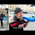 Kontroverzen družbeni eksperiment: Pred brezdomcem mu je na tla padla denarnica in zgodilo se je tole...