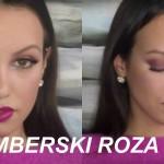 Video nasvet za ličenje: Decembrski Glam Look v roza odtenkih