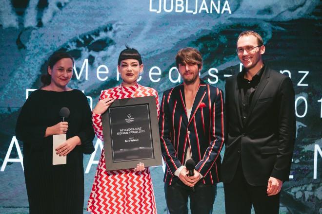 Mercedes-Benz Fashion Award, Nataša Peršuh, Sara Velenci, Aljoša Bagola, Rasto Oderlap, foto Jani Ugrin