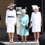 Melania na obisku pri britanski kraljici 5