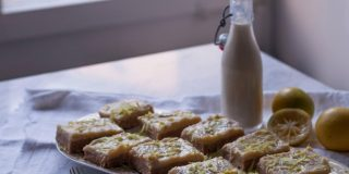 Kokosov kolač z limonino kremo