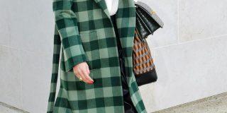 zelen karirast jesenski plašč 4