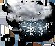 pretežno oblačno dež s snegom