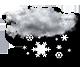 pretežno oblačno sneženje